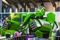 机器人学商展的机器人拳击手2016年 免版税库存照片