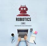 机器人学机械仪器技术概念 库存照片