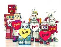 机器人家庭 免版税库存照片