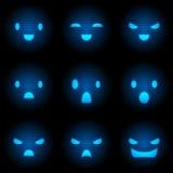 机器人微笑集合 皇族释放例证