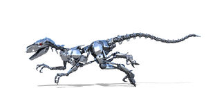 机器人恐龙赛跑 免版税库存照片