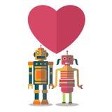 机器人愉快的华伦泰 库存照片
