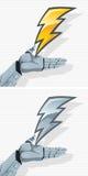 机器人手和螺栓 向量例证