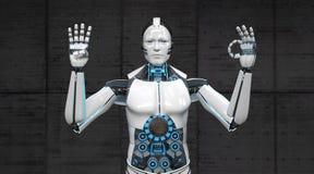 机器人手指40 库存例证