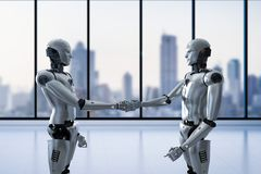 机器人手震动 免版税库存照片