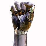 机器人拳头 免版税库存照片