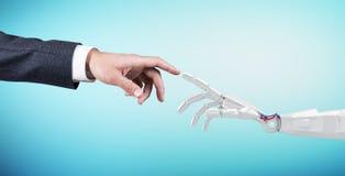 机器人数字式现有量人力例证涉及 3d翻译 免版税库存照片