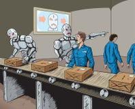 机器人替换 库存例证