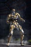 机器人未来派战士 向量例证