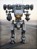 机器人未来派机械武器 图库摄影
