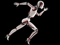 机器人机器人妇女赛跑 免版税库存图片