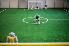机器人橄榄球 免版税库存照片