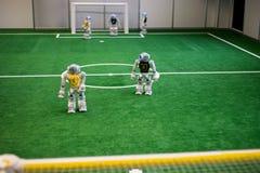 机器人橄榄球 免版税库存图片