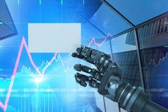 机器人武器储备白色招贴3d的计算机生成的图象的综合图象 库存图片