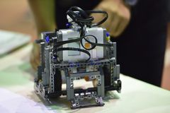 机器人比赛 免版税图库摄影