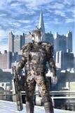 机器人海军陆战队员单位 免版税库存照片