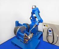 机器人焊工 免版税图库摄影