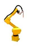 机器人焊工 免版税库存图片