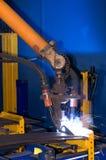 机器人焊接 免版税库存图片