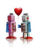 机器人爱 免版税库存照片