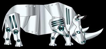 机器人犀牛 免版税库存照片