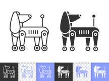 机器人狗简单的黑线传染媒介象 皇族释放例证