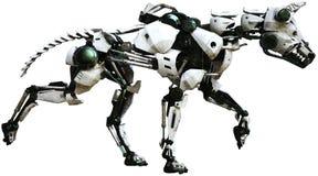 机器人狗,机械机器,被隔绝 库存例证