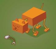 机器人猫两 库存图片