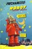 机器人玩具箱Robbie日本玩具 免版税库存照片