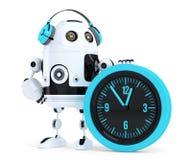 机器人电话中心操作员 包含裁减路线 免版税库存照片