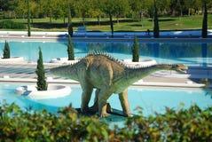 机器人的恐龙 库存照片
