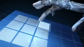 机器人的手 向量例证