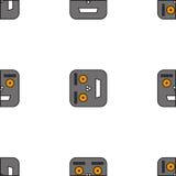 机器人的无缝的样式 免版税图库摄影