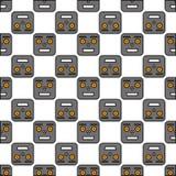 机器人的无缝的样式 免版税库存图片