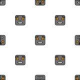 机器人的无缝的样式 免版税库存照片