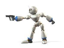 机器人瞄准 图库摄影