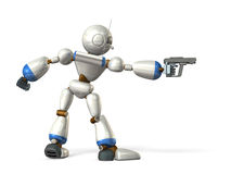 机器人瞄准 免版税图库摄影