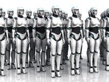机器人组休眠的妇女 库存图片