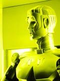 机器人联系 免版税图库摄影