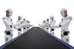 机器人装配线 免版税库存照片