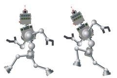 机器人运行 快行计算机机制 向量例证