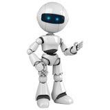 机器人逗留白色 皇族释放例证