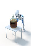 机器人酿造啤酒:发酵 向量例证