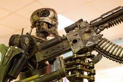 机器人金属刺客 库存图片