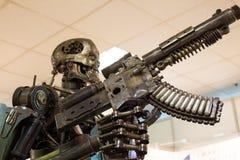 机器人金属刺客 免版税图库摄影