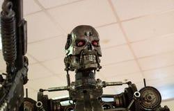 机器人金属刺客 免版税库存照片