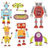 机器人集合 免版税库存图片