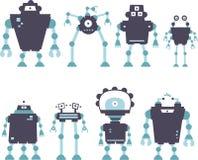 机器人集 免版税图库摄影