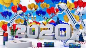 机器人2020年 图库摄影