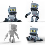 机器人LowPoly 免版税图库摄影